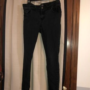 High Rise Black Skinny Jeans